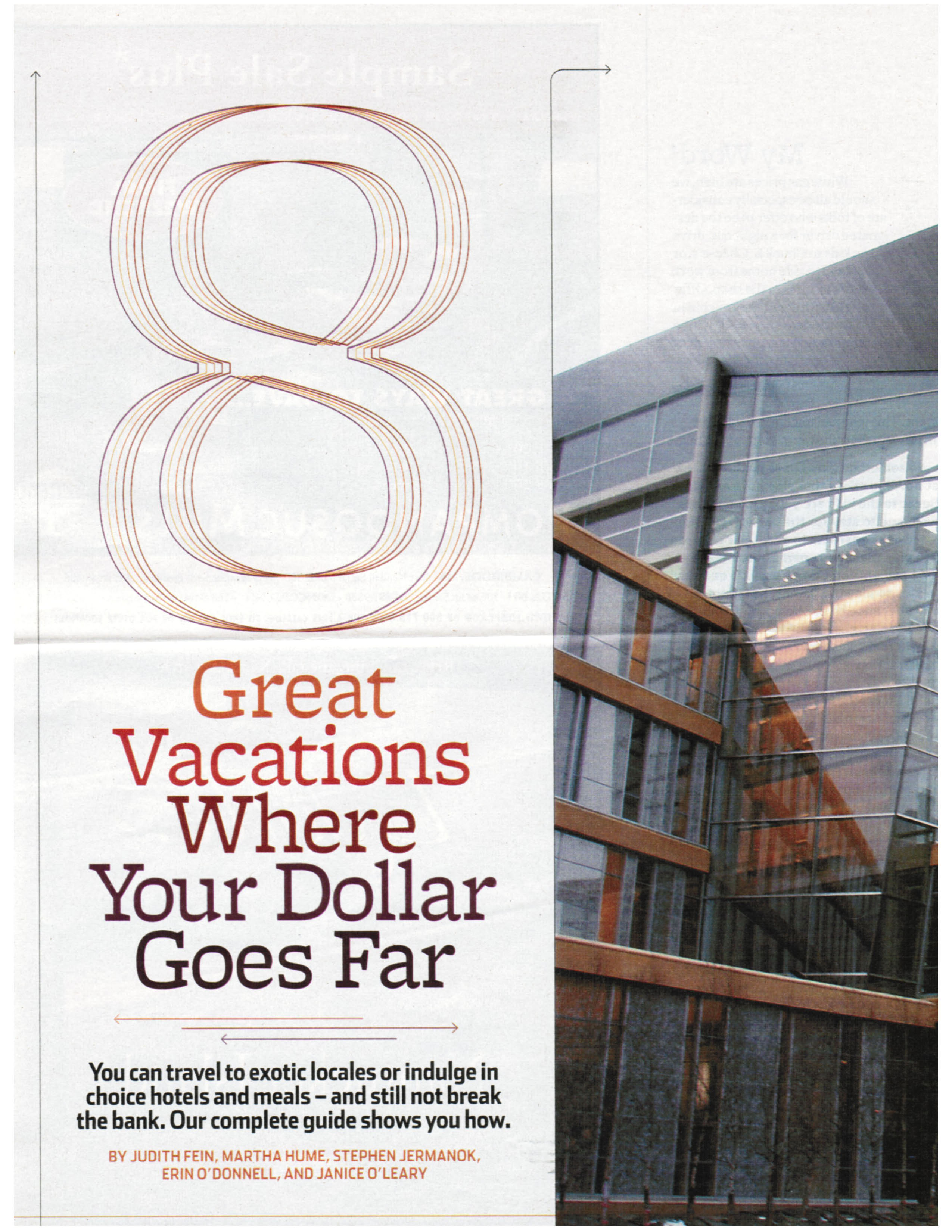 Eight Great Vacations