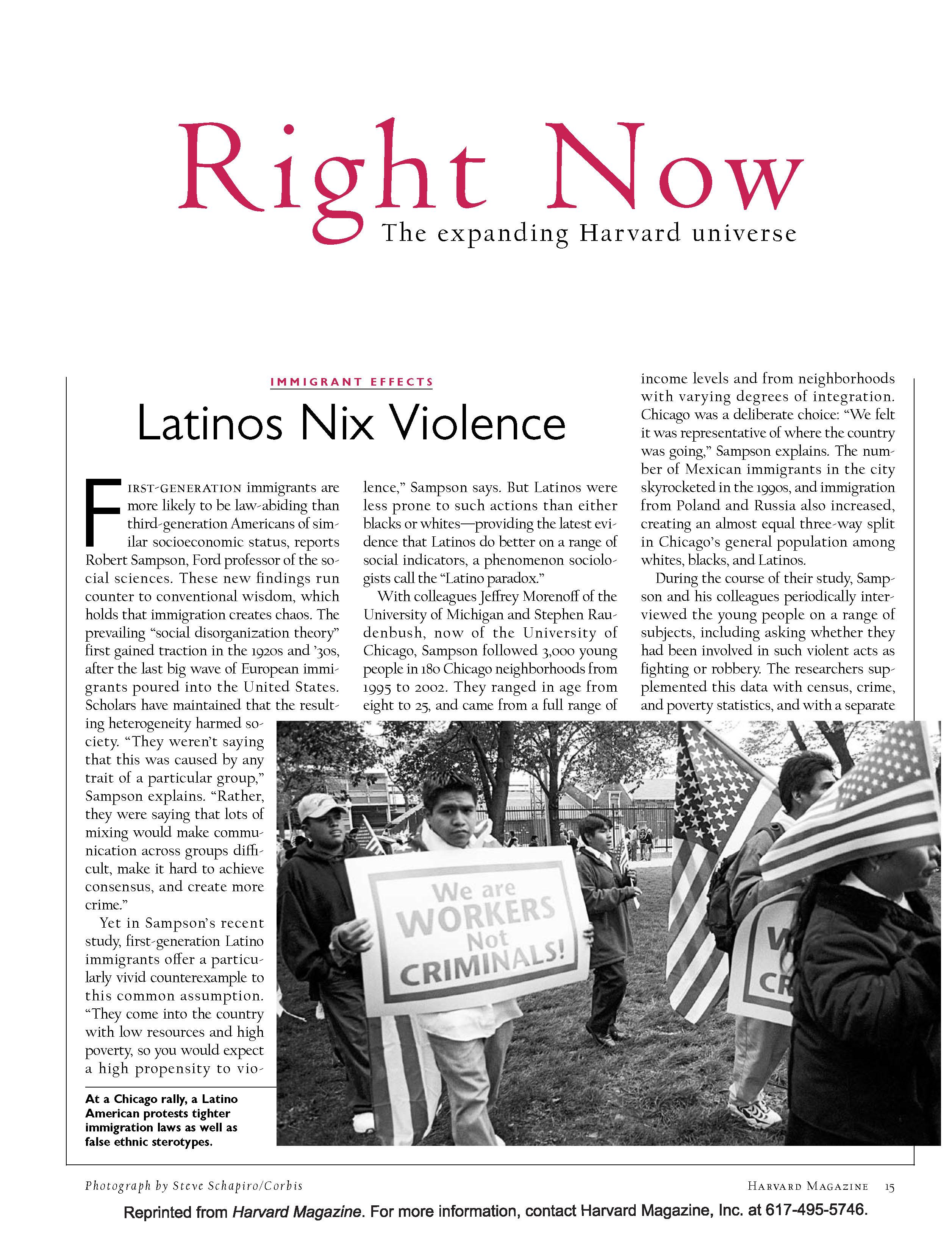 Latinos Nix Violence