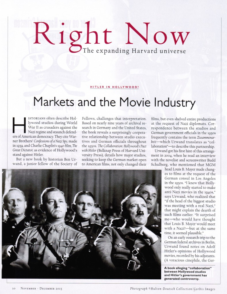 Markets and the Movie Industry